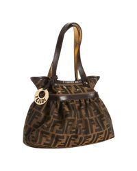 Fendi | Brown Zucca Canvas Mare Star Stud Mini Bag | Lyst