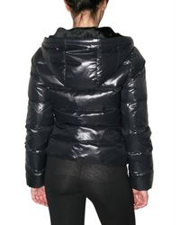 Beayukmui | Black Rabbit Fur Hood Down Jacket | Lyst