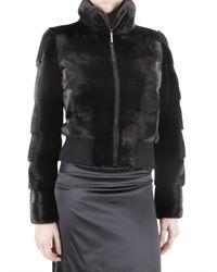 Blancha | Black Mink Bomber Fur Coat | Lyst