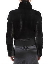 Blancha   Black Mink Bomber Fur Coat   Lyst