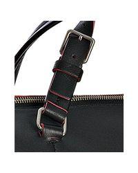 Céline - Black Calfskin Boston Bag with Neon Trim - Lyst