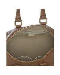 Céline - Natural Camel Deerskin Padlock Top Handle Bag - Lyst