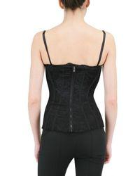 Dolce & Gabbana   Black Lace Bustier Top   Lyst