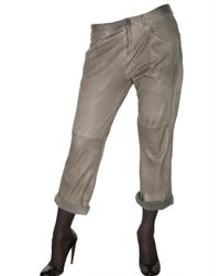 DROMe | Gray Leather Trousers | Lyst
