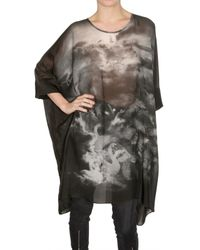 Emma Cook | Black Swan Print Chiffon Kaftan Dress | Lyst
