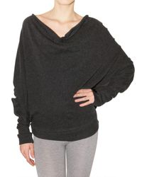 Enza Costa | Gray Oversize Cashmere Jersey Back Button Top | Lyst