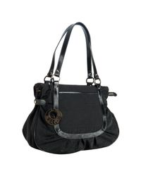 Fendi - Black Leather Trim Zucca Canvas Chef Shoulder Bag - Lyst
