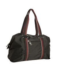 Fendi | Black Zucchino Print Nylon Logo Duffle Bag | Lyst