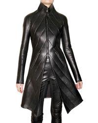Gareth Pugh | Black Leather and Scuba Coat | Lyst