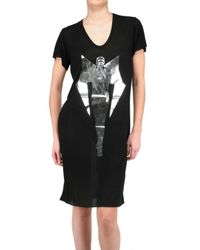 Gareth Pugh | Black Limit.ed Androgynous Print Jersey T-shirt Dress | Lyst