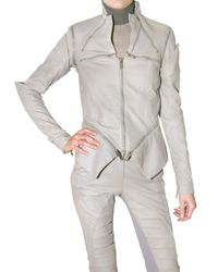 Gareth Pugh | Gray Multi Zip Leather Jacket | Lyst