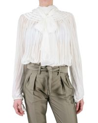 Gianfranco Ferré | White Pleated Voile Chiffon Shirt | Lyst