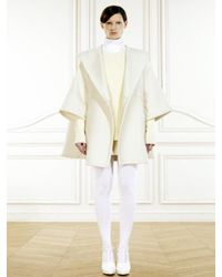 Givenchy - White Hooded Double Cloth Cape Coat - Lyst