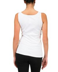 Givenchy - White Metal Chain Jersey Tank Top - Lyst
