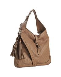 Gucci | Brown Cognac Ssima New Jackie Tassel Detail Hobo | Lyst