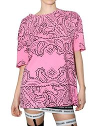 House of Holland | Pink Cotton Jersey T-shirt | Lyst
