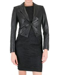 John Richmond | Black Back Embroidered Tailcoat/ Leather Jacket | Lyst