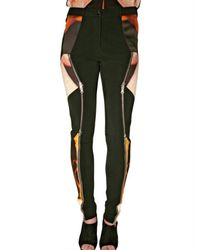 Krystof Strozyna | Black Sateen and Viscose Zipper Trousers | Lyst