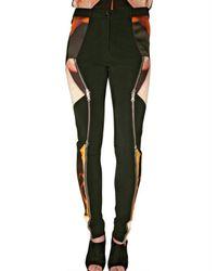 Krystof Strozyna - Black Sateen and Viscose Zipper Trousers - Lyst