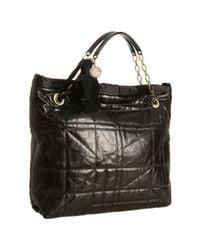 Lanvin | Black Amalia Leather Tote | Lyst