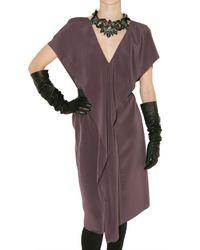 Lanvin | Purple Crepe Techno Dress | Lyst