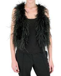 Manoush | Black Feather Bolero | Lyst