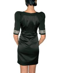 Matthew Williamson - Black Jeweled Cuff Crepe Tailor Dress - Lyst