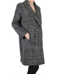 Metradamo | Black Structured Wool Coat | Lyst