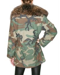 Mr & Mrs Italy - Green Camouflage Canvas Fur Coat - Lyst