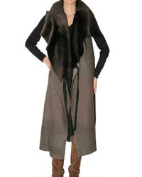 No Editions | Brown Long Multi Layer Shearling Vest | Lyst