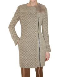 Peter Pilotto | Gray Honeycomb Knit Coat | Lyst