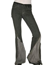 Rick Owens | Gray Stretch Denim Zip-out Jeans | Lyst