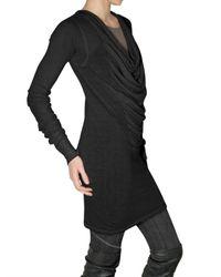 Rick Owens - Black Fine Merino Mini Dress - Lyst