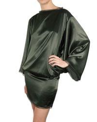 ROKSANDA - Green Silk Satin Dress - Lyst