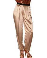 ROKSANDA | Natural Satin Trousers | Lyst