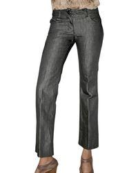 Saint Laurent | Blue One Wash Linen Denim Jeans | Lyst