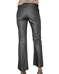 Saint Laurent - Blue One Wash Linen Denim Jeans - Lyst