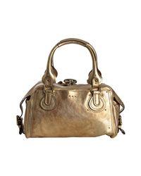 Chloé | Metallic Gold Leather Paddington Crystal Padlock Satchel | Lyst