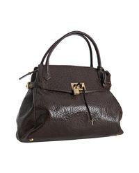Marc Jacobs - Brown Camille Cracked Leather Tote - Lyst