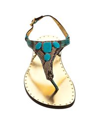 Michael Kors - Multicolor Pool Python Printed Cassia Thong Sandals - Lyst
