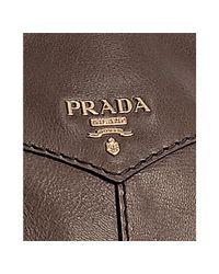 Prada - Brown Black Deerskin Large Bauletto Bowling Bag - Lyst
