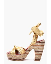 Marc By Marc Jacobs - Metallic Gommone Heels - Lyst