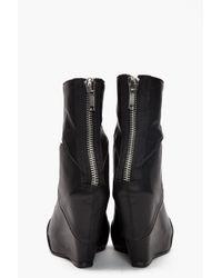 Rick Owens - Black Cutout Wedge Boots - Lyst