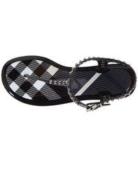 Burberry | Black Studded Sandal | Lyst