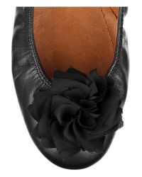 Lanvin | Black Leather Ballet Flats | Lyst