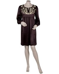 Collette Dinnigan | Purple Embroidered Tunic Dress | Lyst