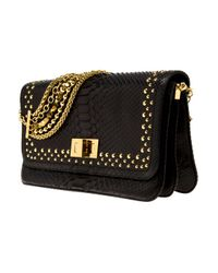 Eastland - Black Studded Python Bag - Lyst