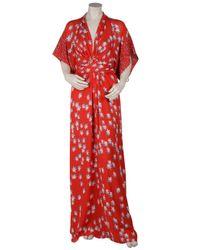 Issa - Red Star Print Kimono Dress - Lyst