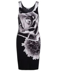 Jonathan Saunders | Black Negative Floral Sleeveless Dress | Lyst