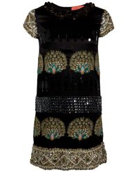Manoush | Black Beaded Peacock Dress | Lyst